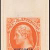 10c vermilion Jefferson specimen single