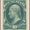 10c green Jefferson single