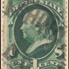 1c green Franklin single