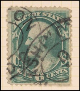6c green Lincoln single