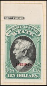 $10 green & black Steward Specimen single