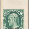 10c dark green Jefferson Specimen single