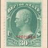 30c dark green Hamilton Specimen single