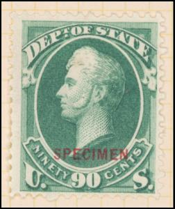 90c dark green Perry Specimen single