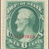 6c dark green Lincoln Specimen single