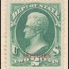 2c dark green Jackson Specimen single