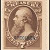 7c brown Stanton Treasury department official Specimen single
