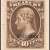 10c brown Jefferson Treasury department official Specimen single