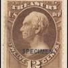 12c brown Clay Treasury department official Specimen single