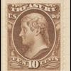 10c brown Jefferson Treasury department official single