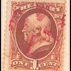 1c brown Franklin single