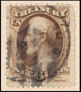 6c brown Lincoln Treasury department official single