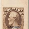 6c brown Lincoln Specimen single