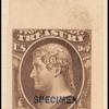 10c brown Jefferson Specimen single