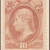 10c rose Jefferson War department official single