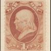 1c rose red Franklin War department official single