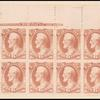 6c rose red Lincoln War department official block of twelve