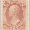 30c rose red Hamilton War department official single