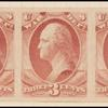 3c rose red Washington War department official strip of three