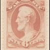 6c rose red Lincoln War department official single