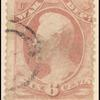 6c rose red Franklin War department official single