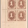 1c brown Postage Due block of four