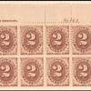 2c brown Postage Due block of twelve