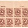 2c brown Postage Due block of twelve