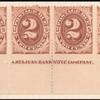 2c brown Postage Due strip of ten