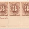 3c brown Postage Due strip of five
