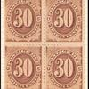 30c brown Postage Due block of four