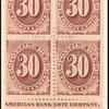 30c red brown Postage Due block of four