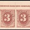 3c red brown Postage Due strip of ten