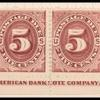 5c red brown Postage Due strip of ten