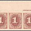 1c red brown Postage Due strip of four