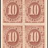 10c red brown Postage Due block of four