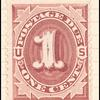 1c bright claret Postage Due single