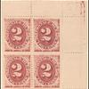 2c bright claret Postage Due block of four