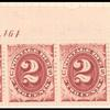 2c bright claret Postage Due strip