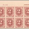 2c bright claret Postage Due block of twelve