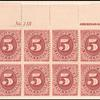 5c bright claret Postage Due block of twelve