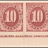 10c bright claret Postage Due strip of ten