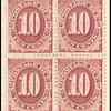 10c bright claret Postage Due block of four