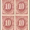 10c bright claret Postage Due block of four