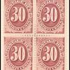 30c bright claret Postage Due block of four