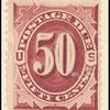 50c bright claret Postage Due single