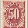 50c bright claret Postage Due single