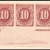 10c bright claret Postage Due strip of five