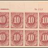 10c bright claret Postage Due block of twelve