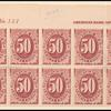 50c bright claret Postage Due block of ten
